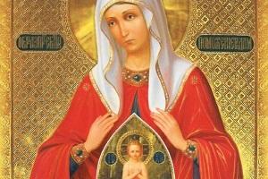 Молитва помощница в родах, Иконе Божией матери