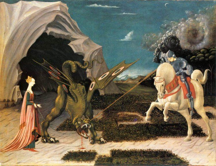 Георгий Победоносец убивает дракона