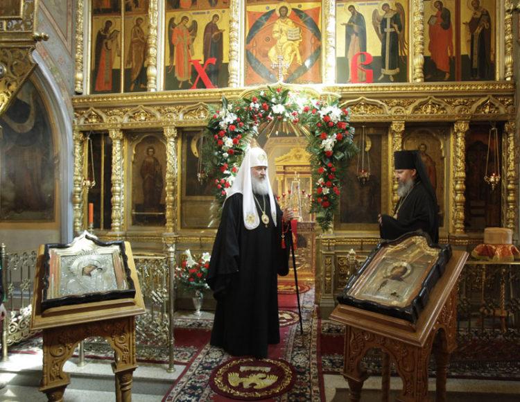 Храм Илии Пророка в Черкизове - посещение Патриарха