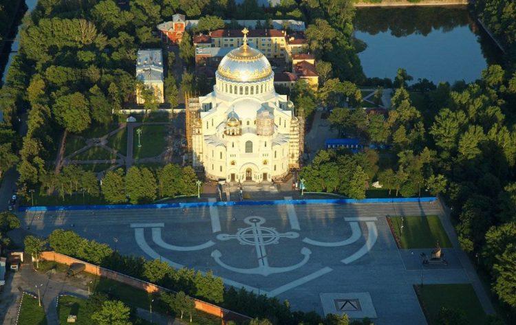 Вид на собор с воздуха