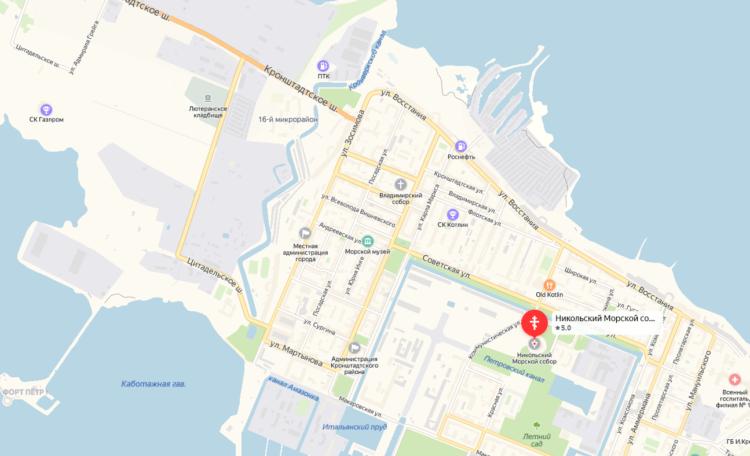 Никольский собор на карте