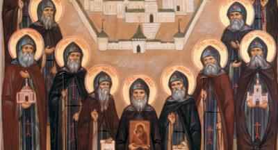 Икона Оптинских старцев