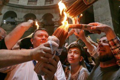 Благодатный огонь в Иерусалиме